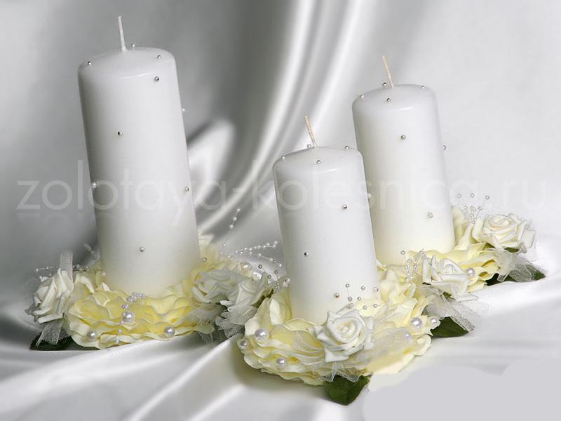 Cвадебные свечи своими руками: делаем, украшаем, идём