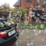 Аренда генератора мыльных пузырей на машину — 1500р. + 200р. наполнитель